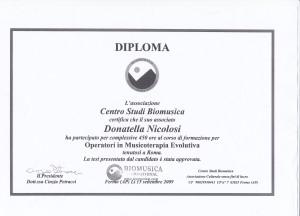 Diploma di Biomusica